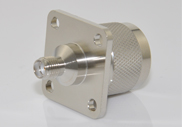 Adapter, N Male to SMA Female, 4 Hole Flange